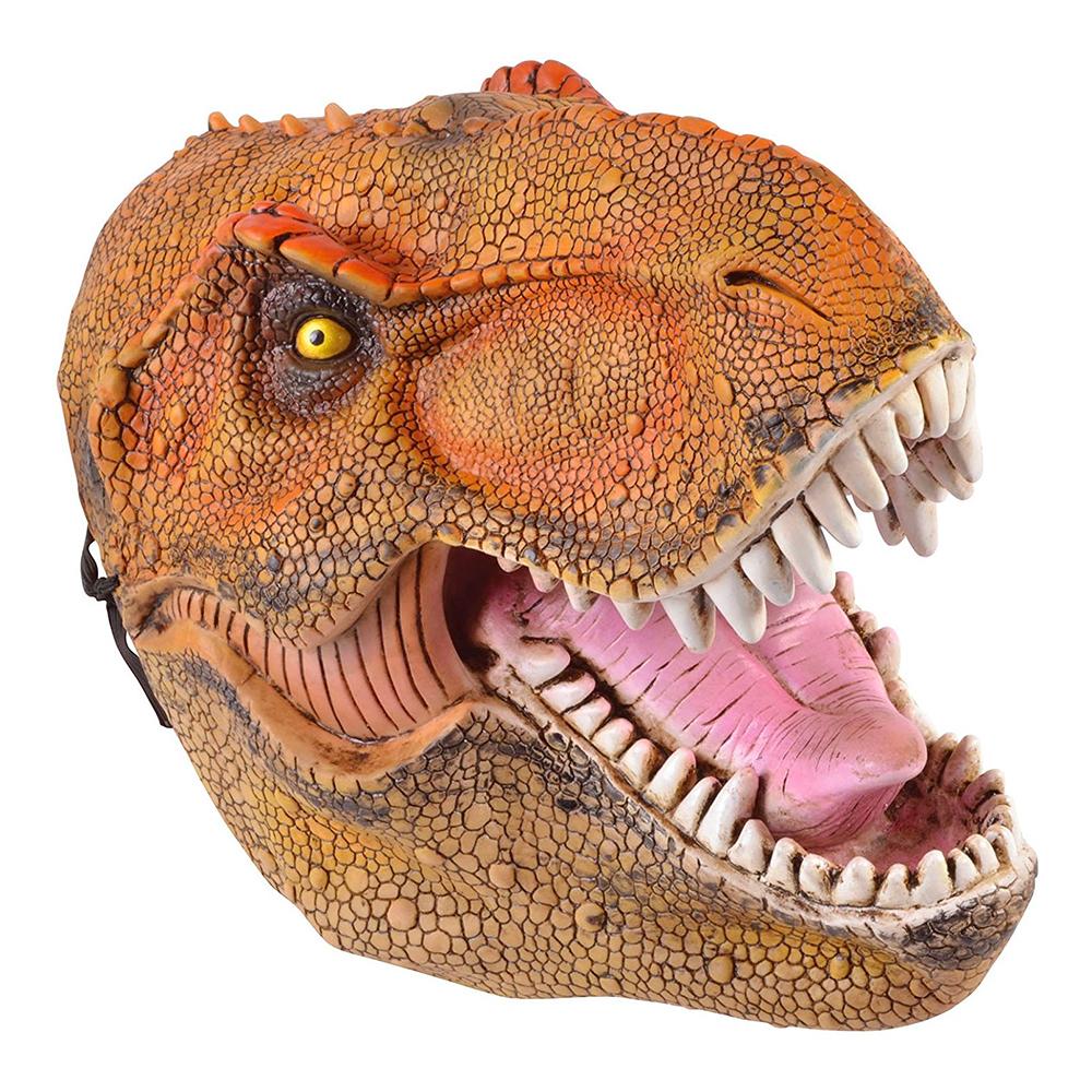 Dinosaurie - Dinosaurie Mask - Brun/Röd