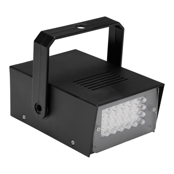 Discolampa Mini LED Strobe Batteridriven