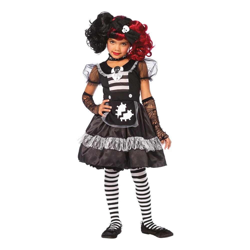 Docka Halloween Barn Deluxe Maskeraddräkt - Medium