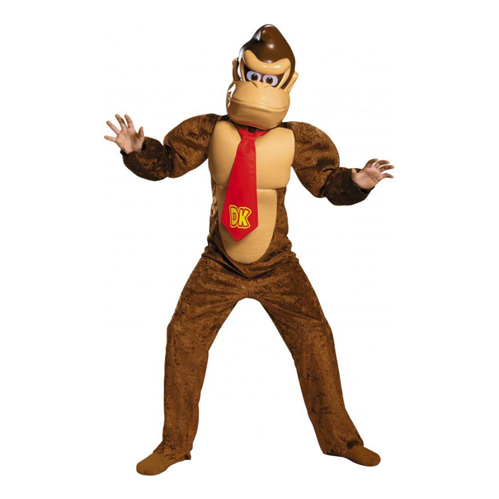 Donkey Kong Deluxe Barn Maskeraddräkt - Large