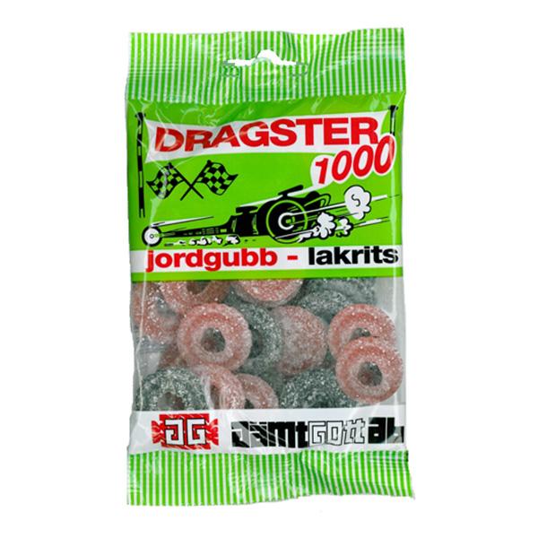 Dragster Jordgubb/Lakrits - 50-pack (Hel kartong)