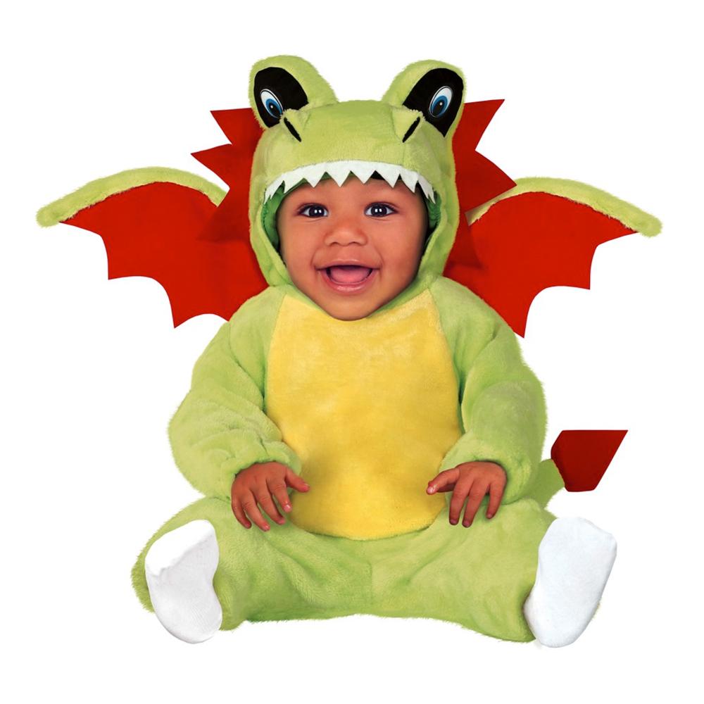 Drake Grön Bebis Maskeraddräkt - 6-12 månader