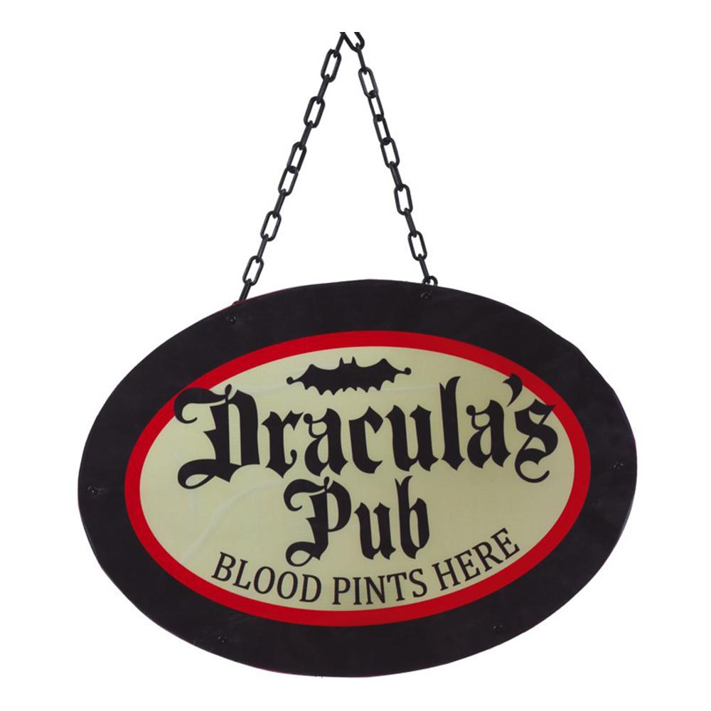 Drakulas Pubskylt med LED