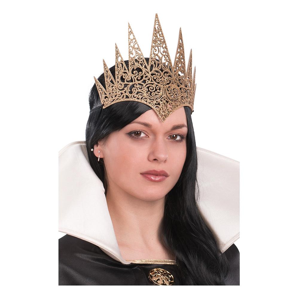 Drottningkrona Guld Spetsig - One size