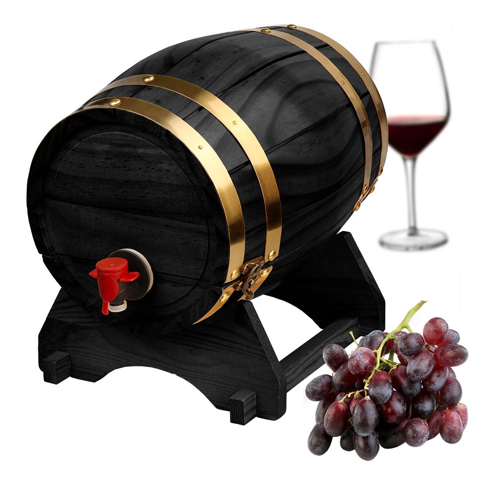 Trätunna för Vin Svart - 5 liters Tunna