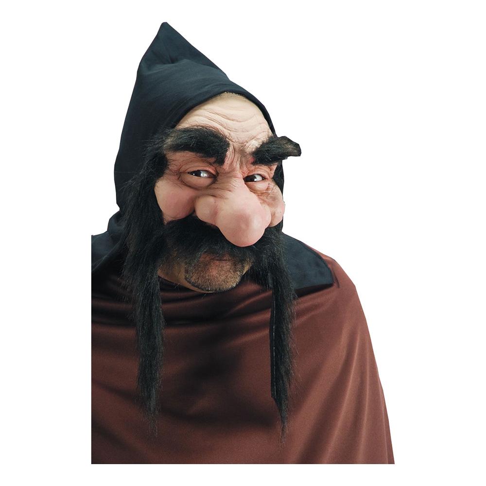 Dvärgmask med Svart Mustasch - One size