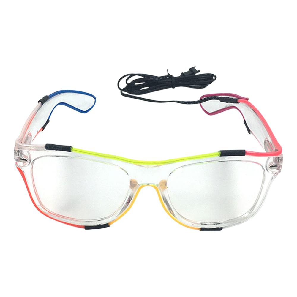 El Wire Flerfärgade Glasögon