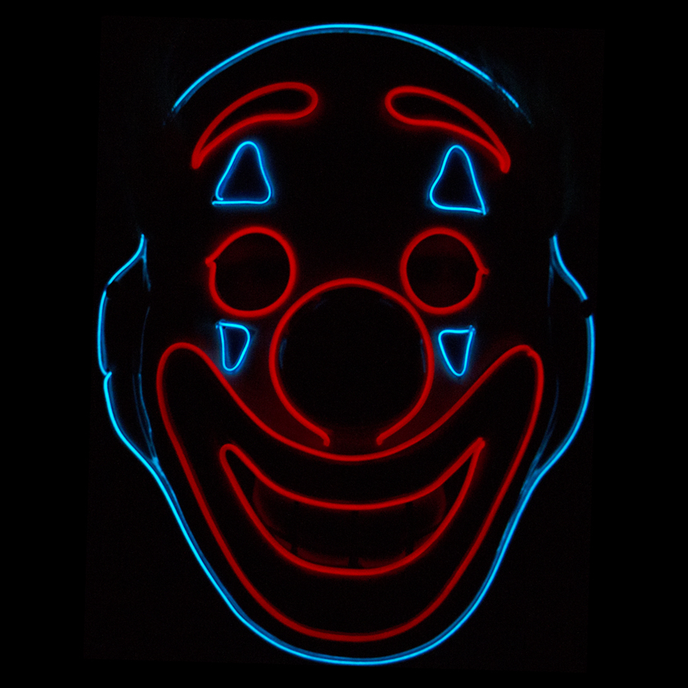 El Wire Joker Aveq LED Mask - One size