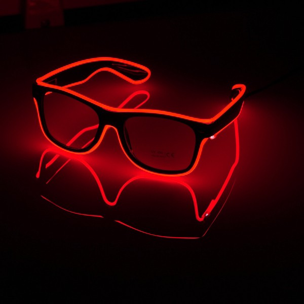 El Wire LED Glasögon - Röd