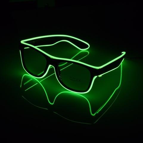 El Wire LED Glasögon - Grön