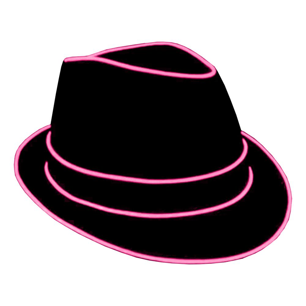 El Wire LED Hatt - Rosa