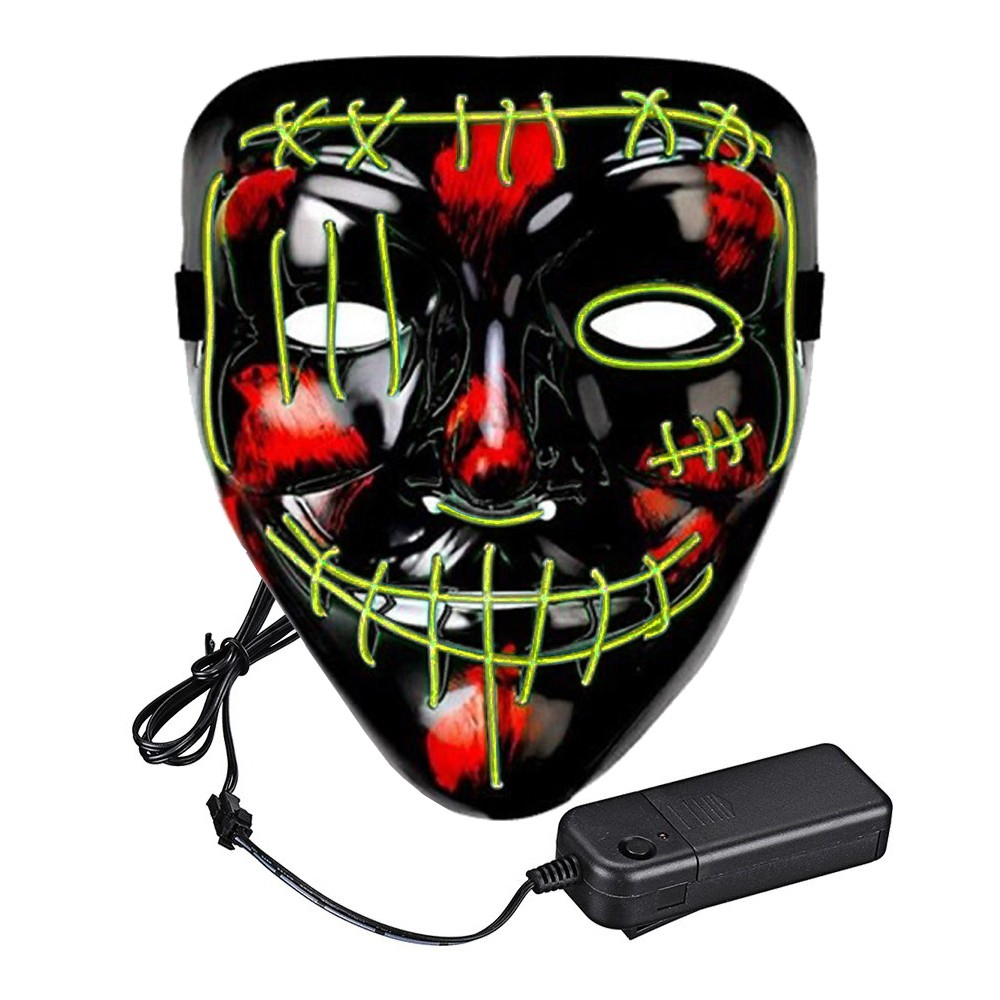 El Wire Purge 2 LED Mask - Gul