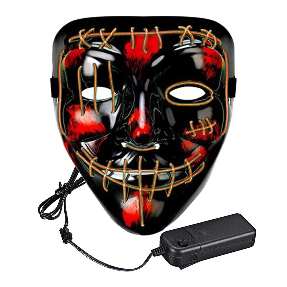 El Wire Purge 2 LED Mask - Orange