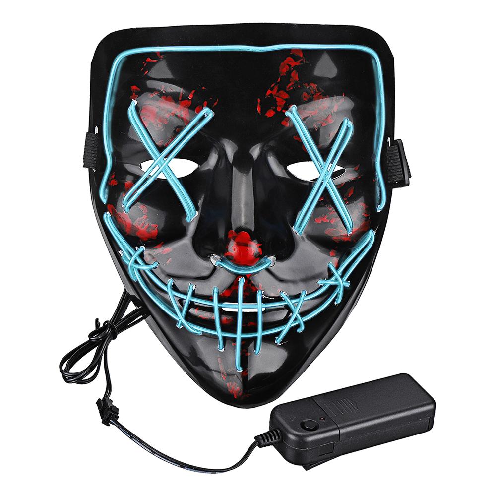 El Wire Purge LED Mask - Turkos