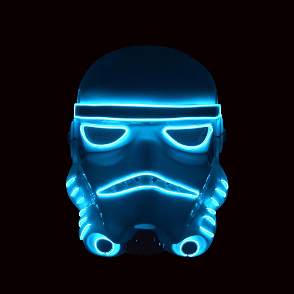El Wire Trooper LED Mask - One Size