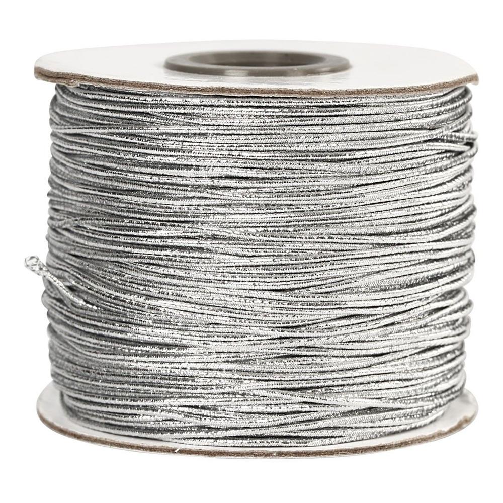 Elastiskt Snöre Silver