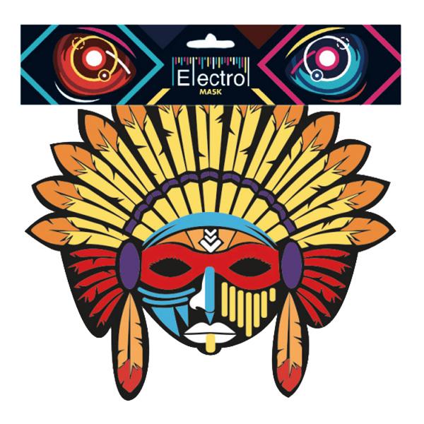 Elektronisk Mask Indian - One size