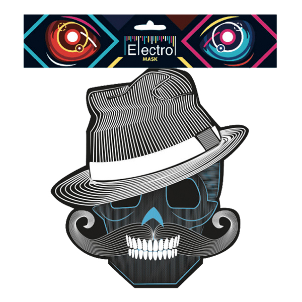 Elektronisk Mask Style - One size | Hem//Maskerad//Masker//Halloweenmasker | Partyoutlet