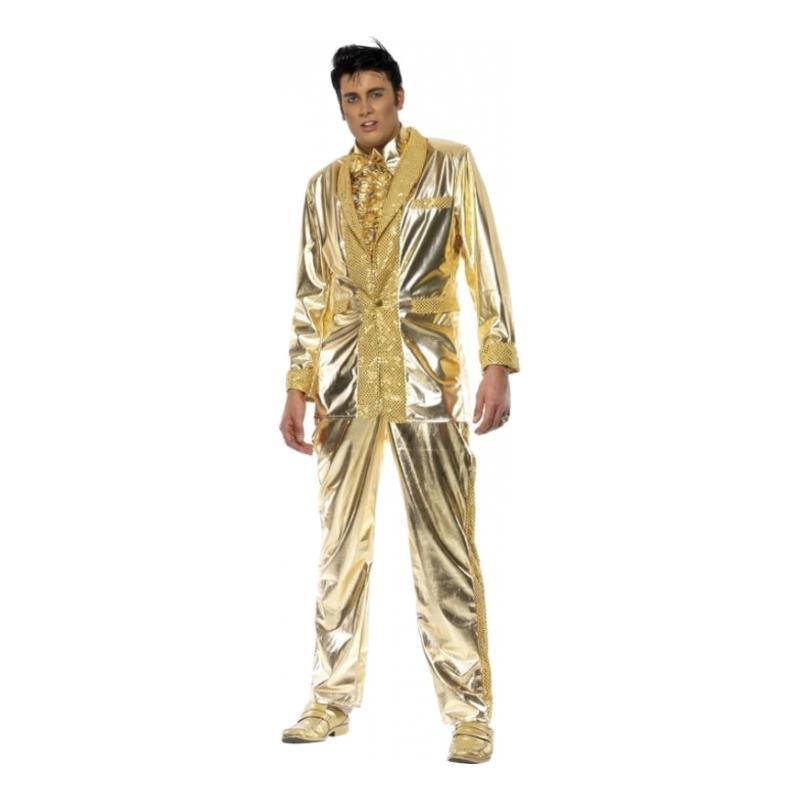 Elvis Guld Maskeraddräkt - Medium