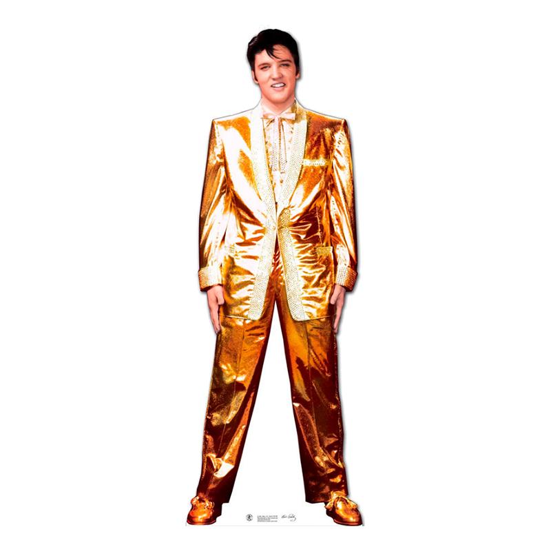 Elvis Presley Guldkostym Kartongfigur