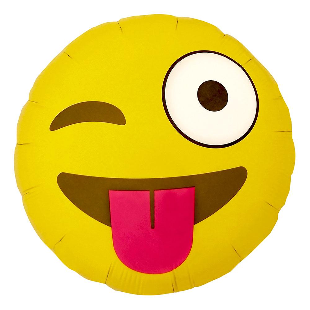 Emoji Winking Folieballong