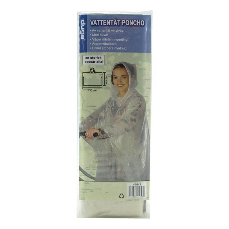 Engångsponcho Transparent - One size