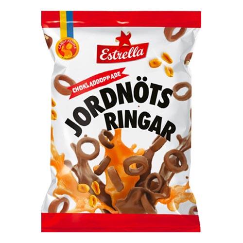 Estrella Chokladdoppade Jordnötsringar - 100 gram