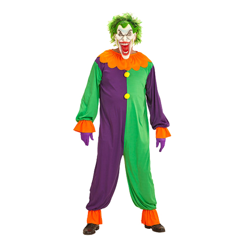 Evil Joker Clown Maskeraddräkt - Small
