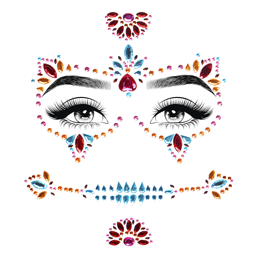 Face Jewels Day of the Dead Deluxe