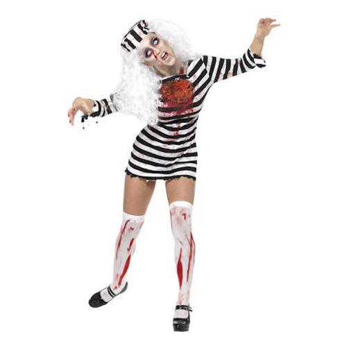 Fångdräkt Kvinnlig Zombie Maskeraddräkt - Small