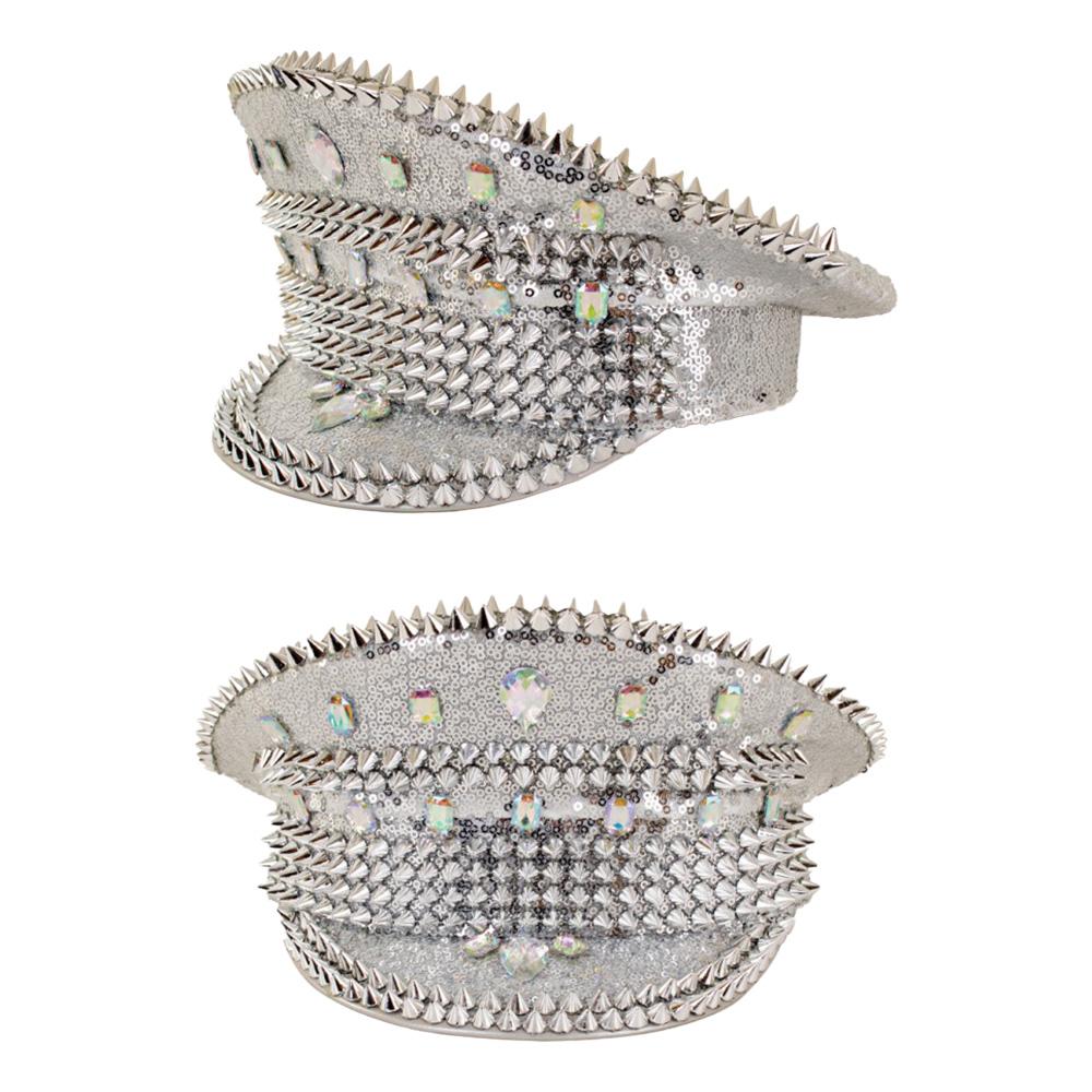 Festivalhatt Bling Silver - One size
