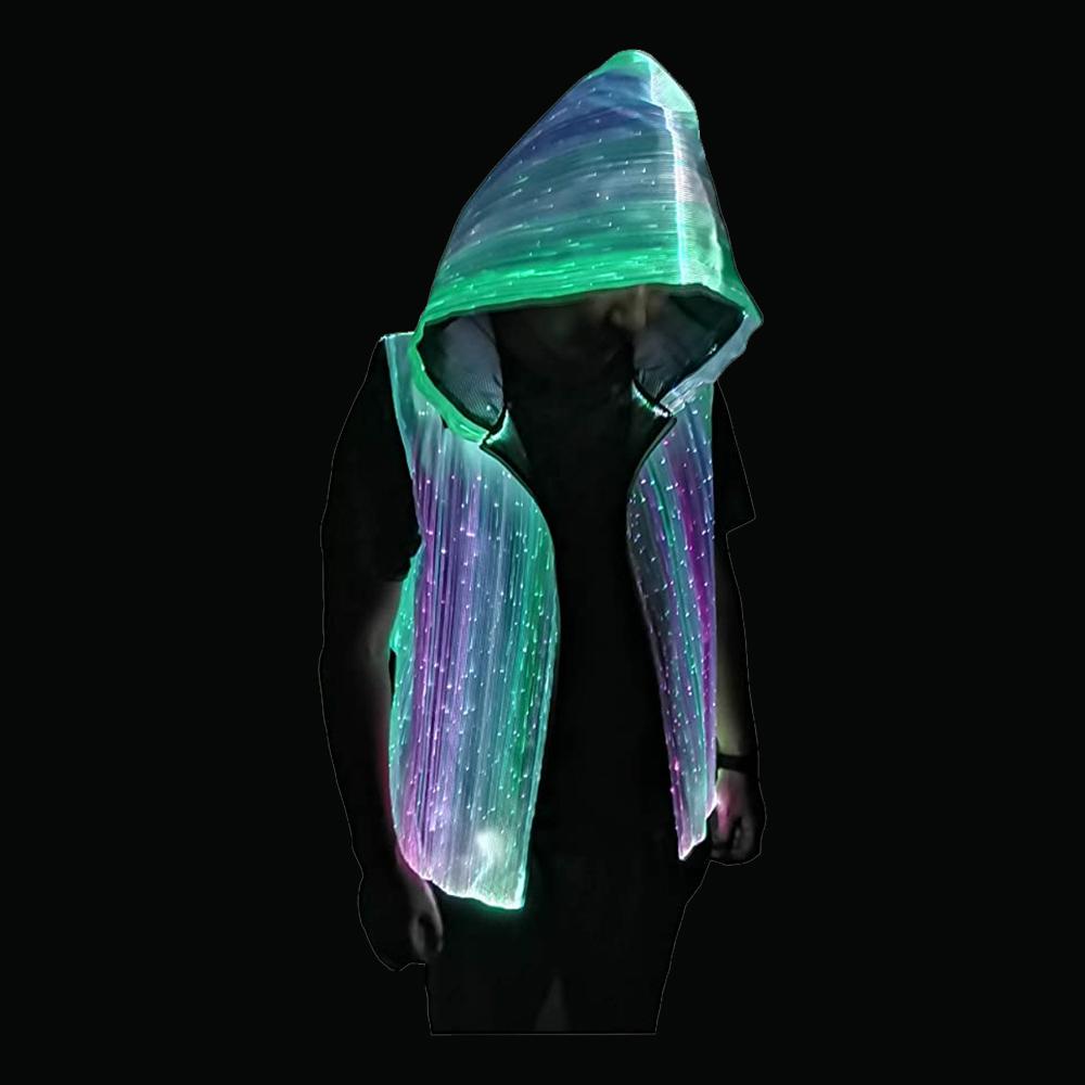 Fiberoptisk LED Hoodie - Large