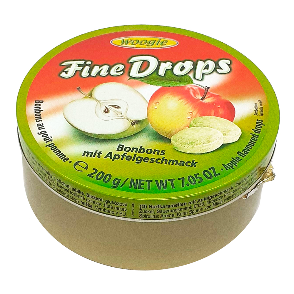 Fine Drops Äpple i Plåtburk - 200 gram