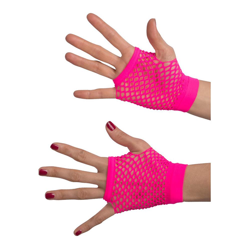 Fingerlösa Näthandskar Rosa