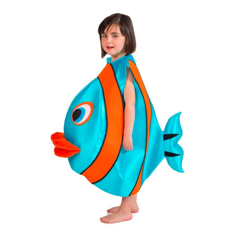 Utklädningsdräkter - Fisk Barn Maskeraddräkt - Small