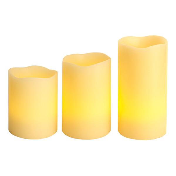 Fjärrstyrda Vaxljus LED Amber