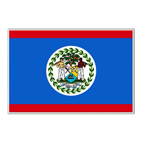 Flagga Belize