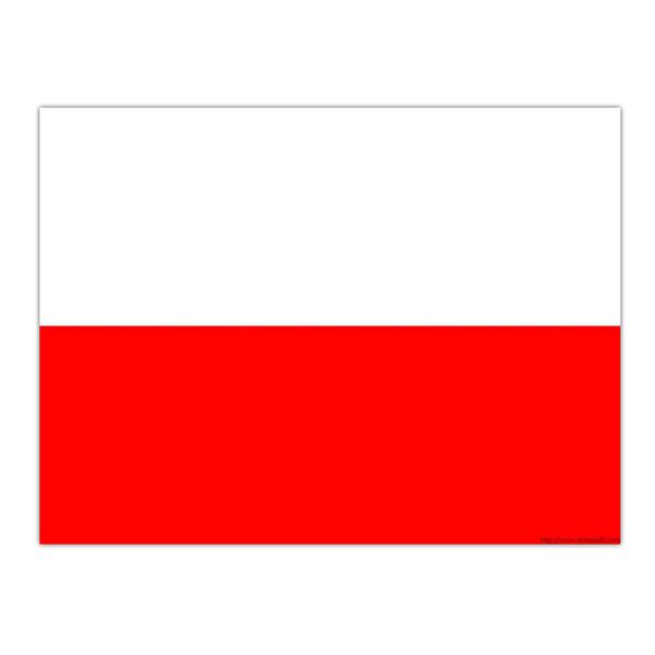 Flagga Polen