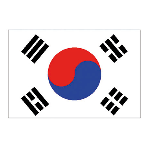 Flagga Sydkorea - 150 x 90 cm