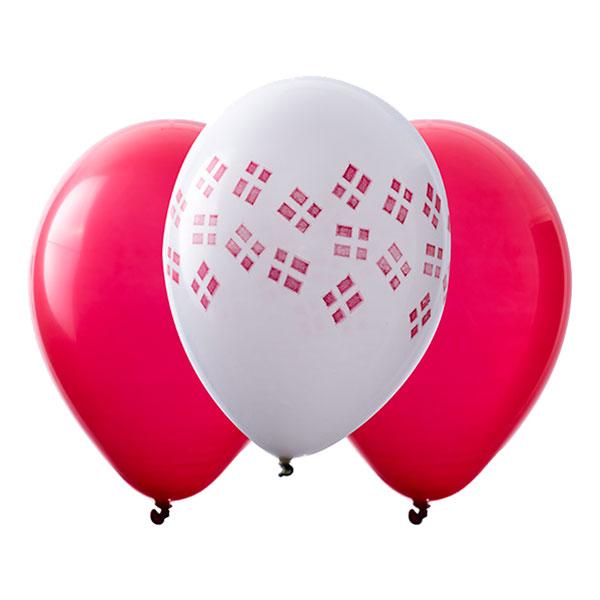Flaggballonger Danmark - 10-pack