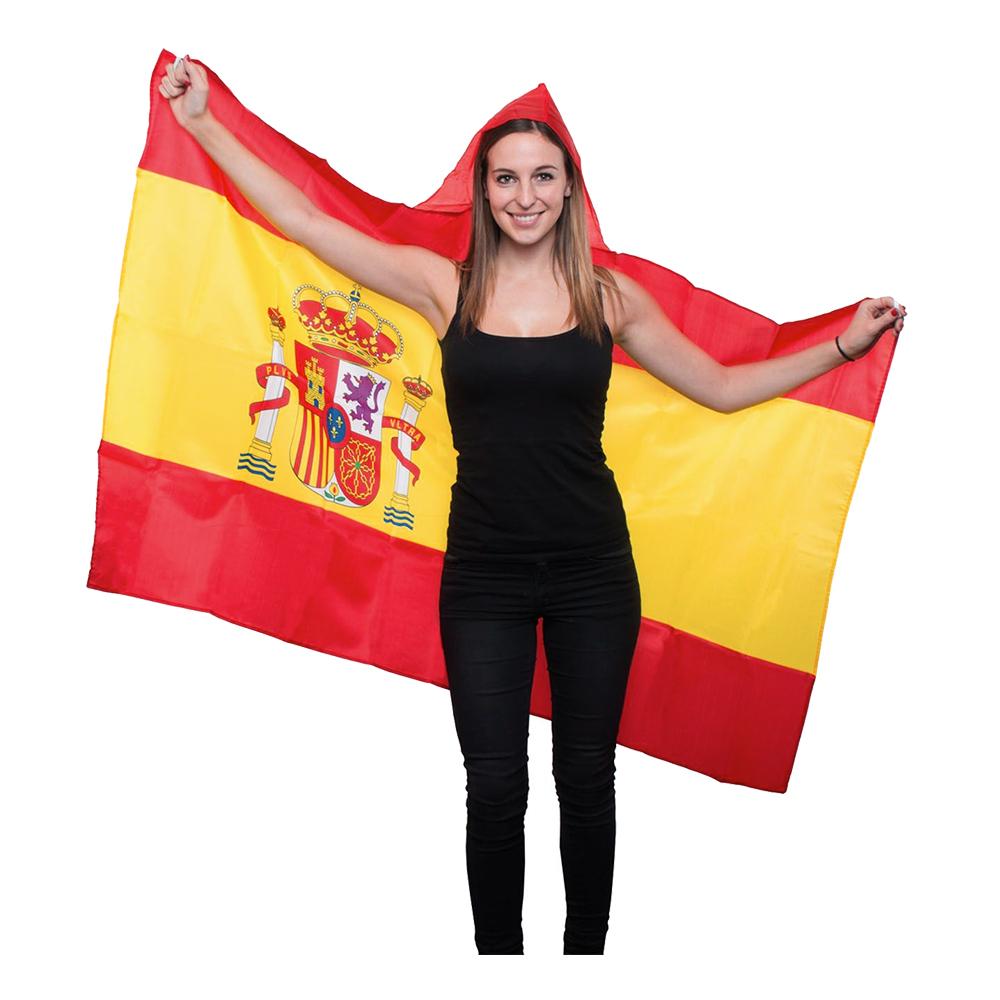 Flaggcape med Huva Spanien - One size