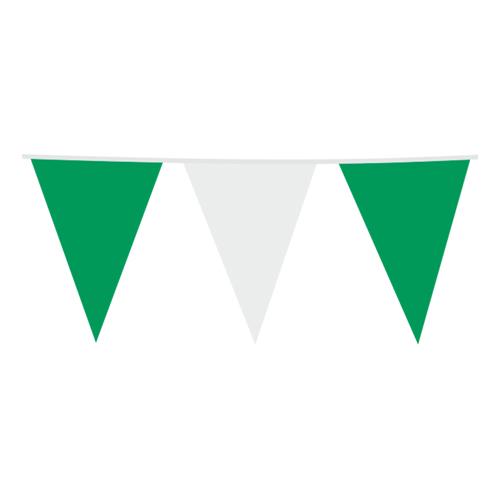 Flaggirlang Grön/Vit - 10m x 30 x 45 cm