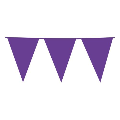 Flaggirlang Lila - 10 meter
