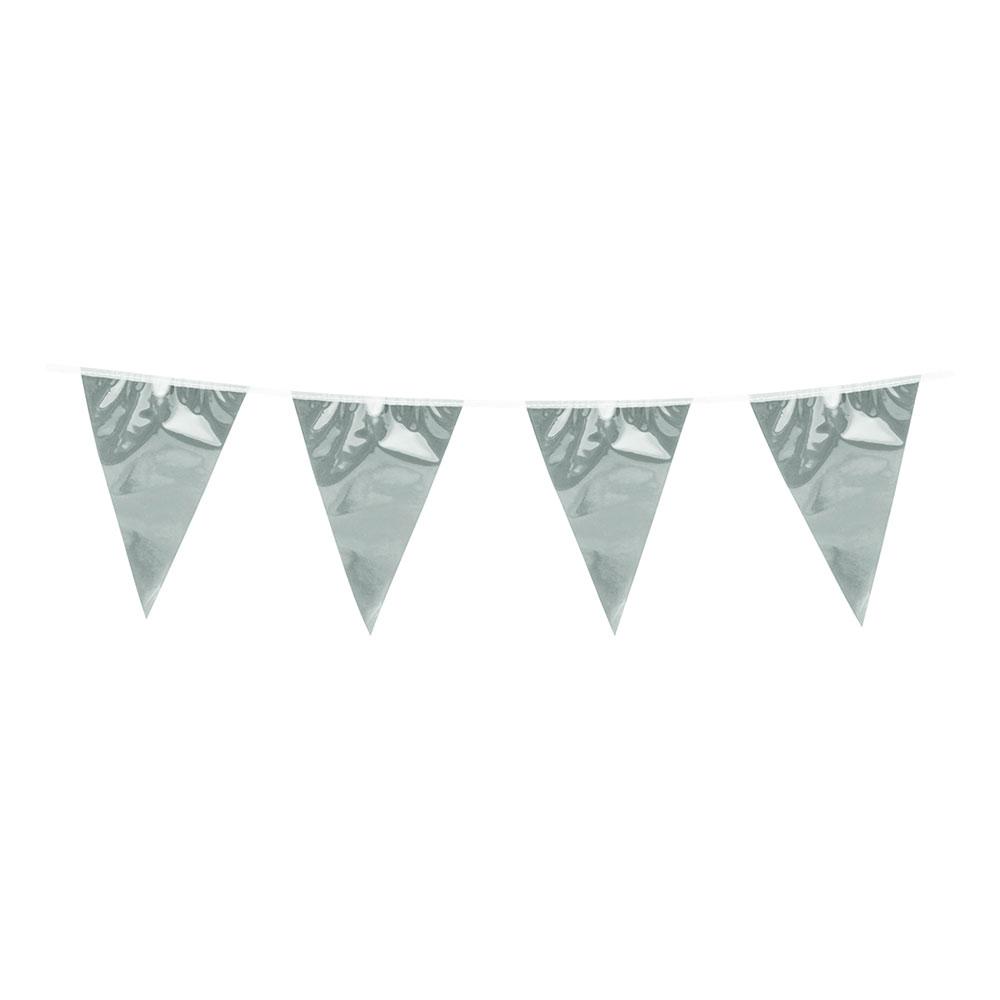 Flaggirlang Metallic Silver
