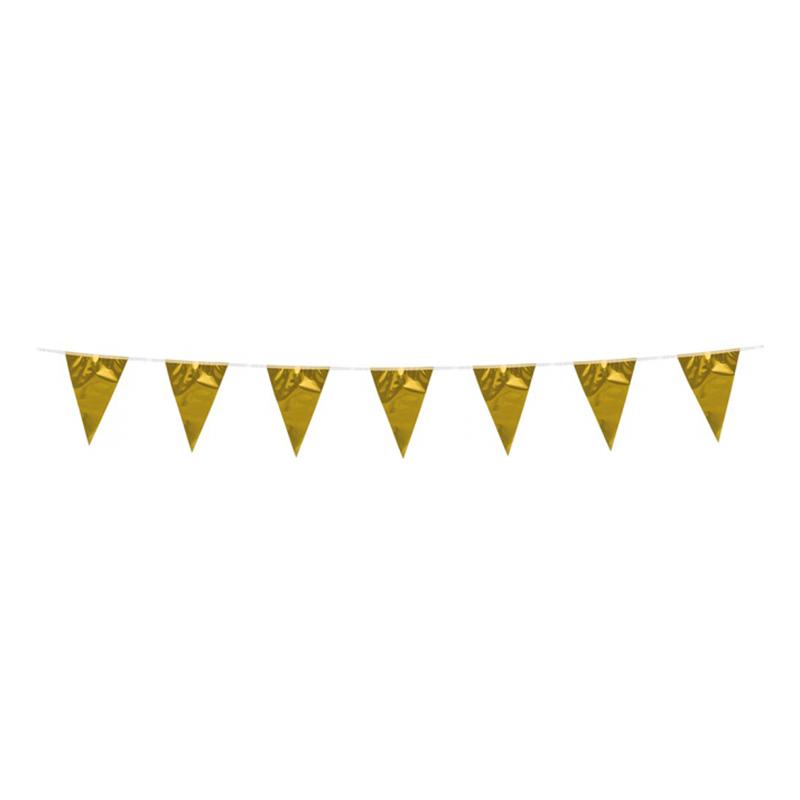 Flaggirlang Mini Metallic Guld