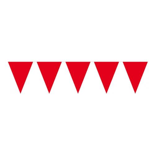 Flaggirlang Mini Röd