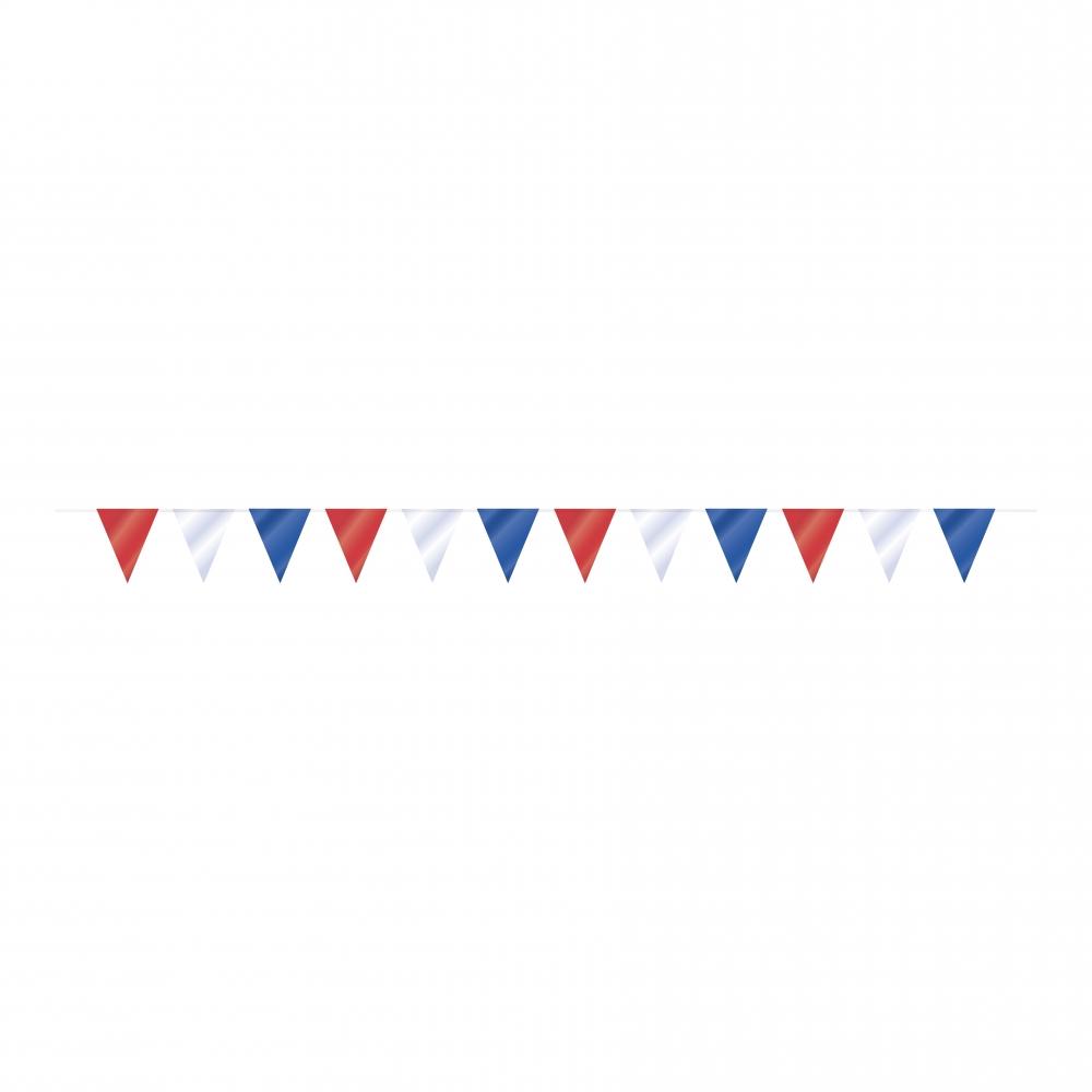 Flaggirlanger - Flaggirlang Röd/Vit/Blå