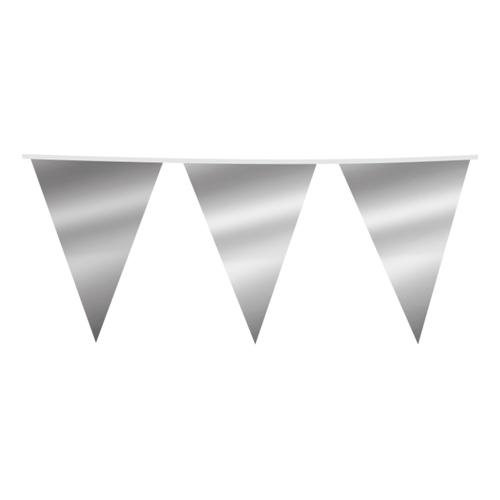 Flaggirlang Silvermetallic - 10 meter