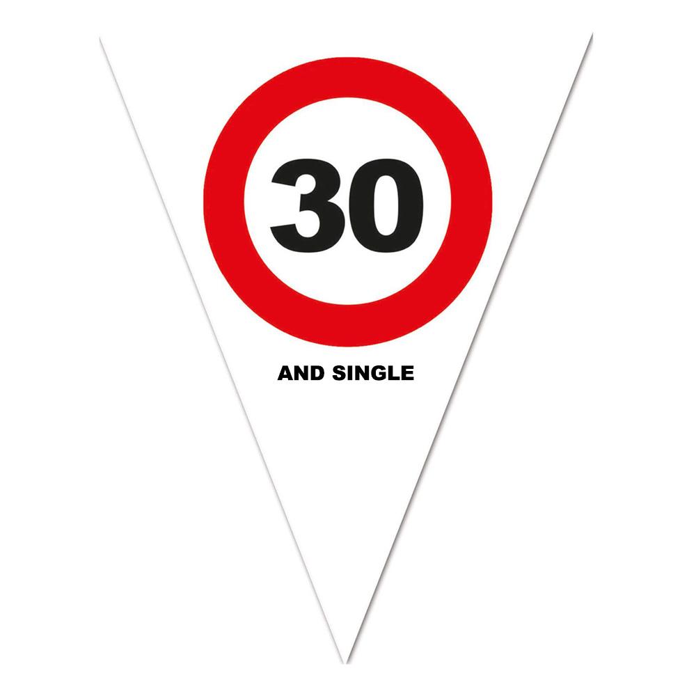 Flaggirlang Trafikskylt 30 and Single