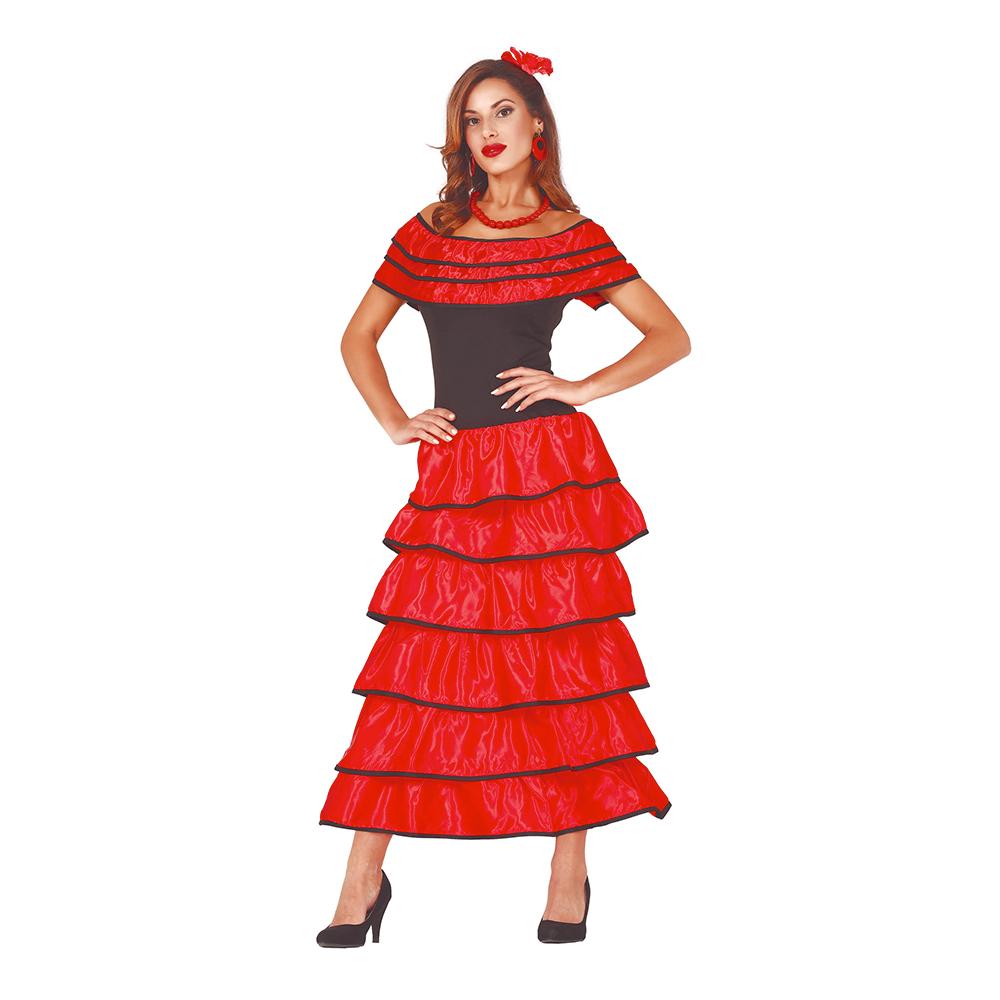 Flamenco Dansös Maskeraddräkt - Medium